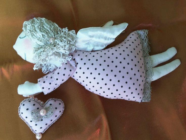 Tilda doll Sleepy Angel  textile doll handmade in Ukraine.