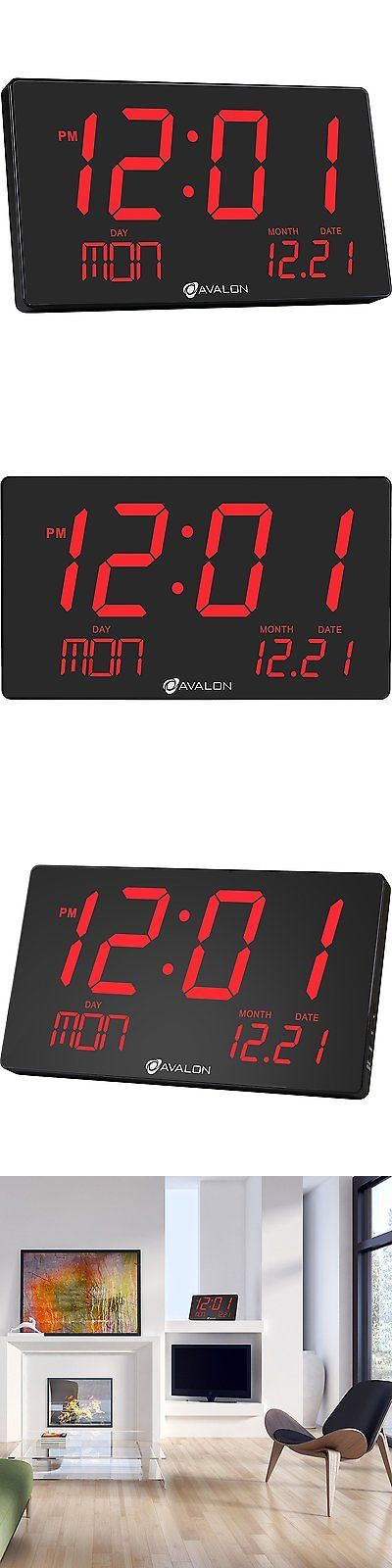 Wall Clocks 20561: Avalon Extra Large Display Red Led Oversized Digital Wall Shelf Clock With Easy -> BUY IT NOW ONLY: $50.94 on eBay!