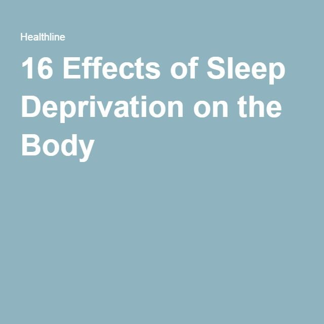 16 Effects of Sleep Deprivation on the Body
