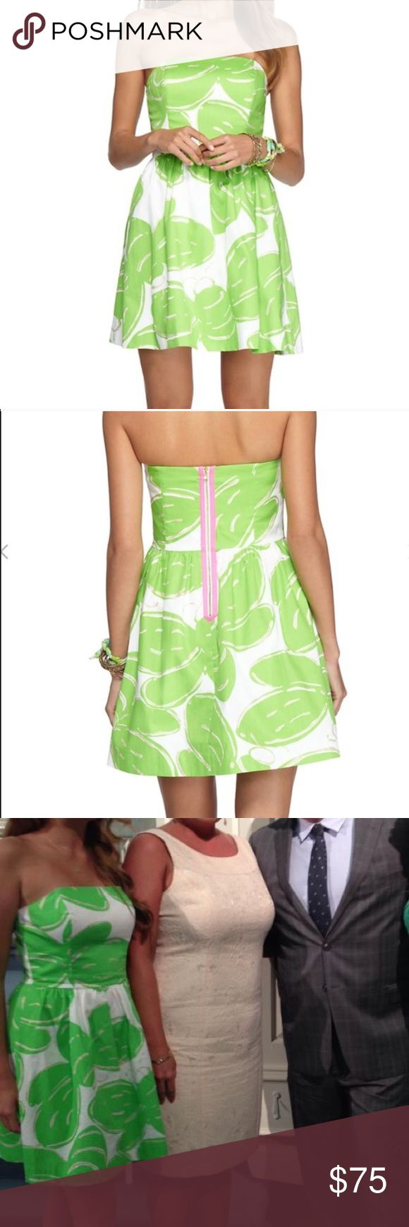 Lilly Pulitzer Tottie Dress  Super cute Lilly dress! I only wore this cutie to a wedding once & can't wear it again because there's so many pictures of me in it hehe! Get your prep on with this Lottie Lilly dress  Lilly Pulitzer Dresses Strapless