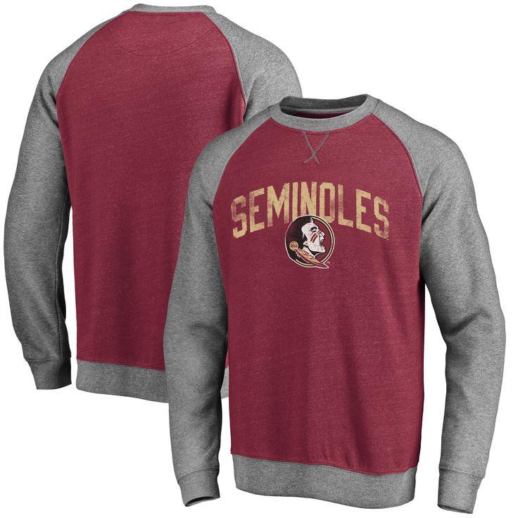 College Florida State Seminoles Booster Raglan Pullover Sweatshirt - Garnet
