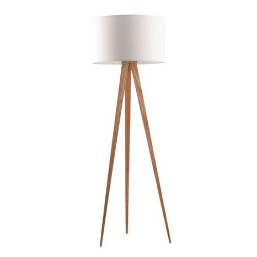 Zuiver Tripod Wood design vloerlamp