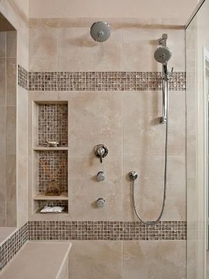 Awesome Shower Tile Ideas Make Perfect Bathroom Designs Always : Beautiful  Shower Tile Ideas Glass Cover