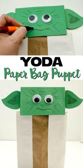 Yoda Paper Bag Puppet: a fun and easy activity for kids of all ages!
