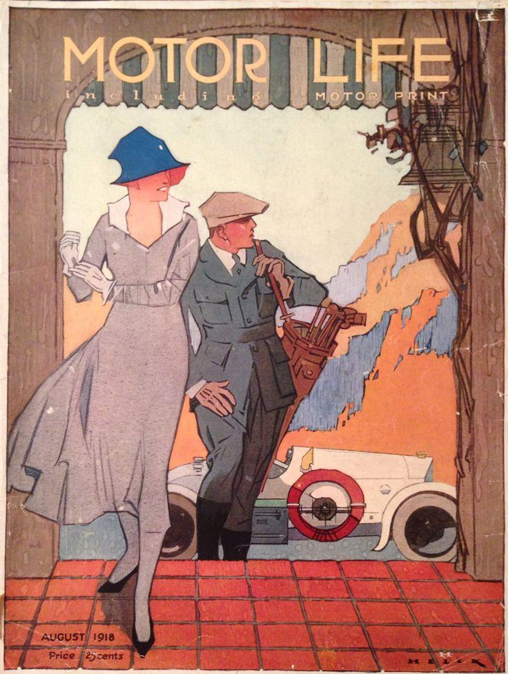 Motor Life Magazine Aug 1918 Golf Cover