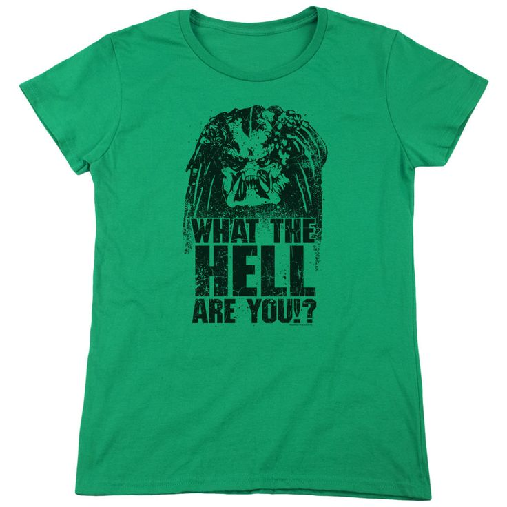 Predator What Are You Kelly Green Womens T-Shirt