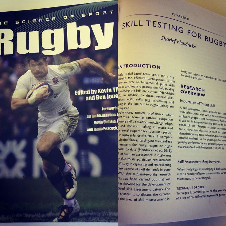 My contribution towards a book on the science of rugby #rugby #science #books