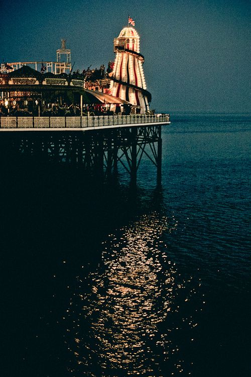 Brighton Palace Pier lit up at night Brighton Pier how much do I love thee .