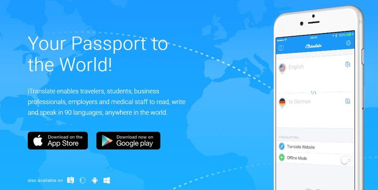 iTranslate - It helps you to translate words, phrases and sentences into 90 languages.  #itranslate #app #entrepreneurs