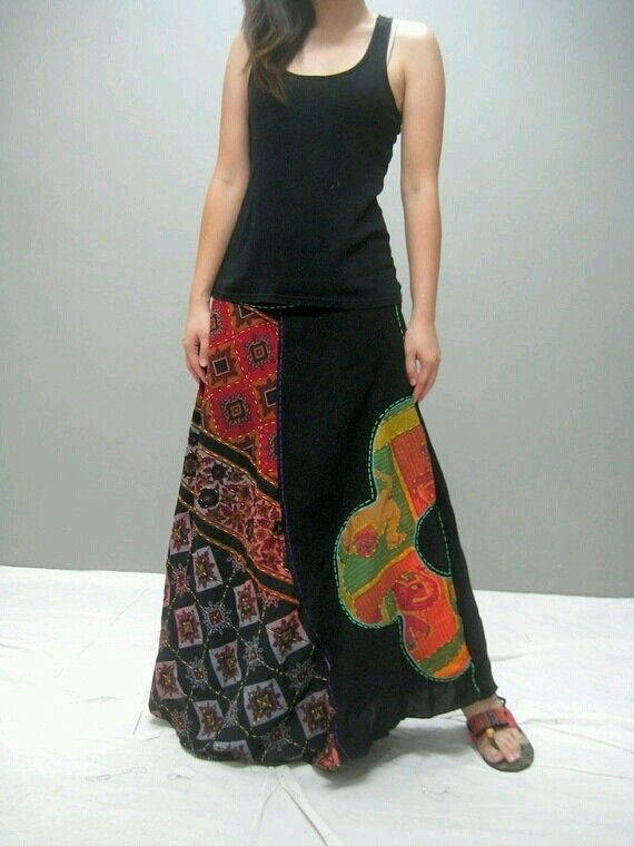 Gypsy skirt--this is totally something I would wear, age be damned
