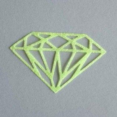 Diamant thermocollant anis fluo pailleté