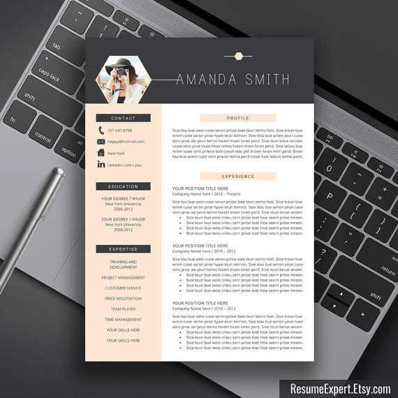Modern Resume Template, US Letter, A4, Cover Letter, CV Template Word, Professional, Modern, Creative Resume, Instant Download, Amanda S