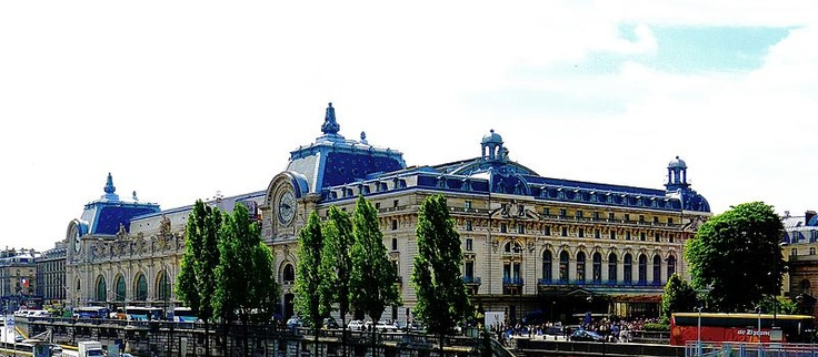 The Musée d'Orsay is a museum in Paris, France, on the left bank of the Seine. It is housed in the former Gare d'Orsay, an impressive Beaux-Arts railway station built between 1898 and 1900. The museum holds mainly French art dating from 1848 to 1915, including paintings, sculptures, furniture, and photography.