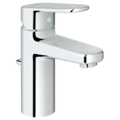 GROHE Europlus Single Hole 1-Handle Low-Arc Bathroom Faucet in Starlight Chrome (Valve not included)-33 170 002 at The Home Depot