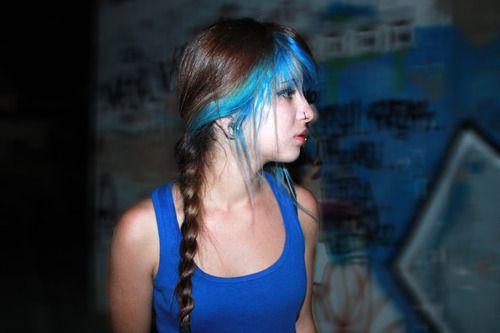 Dyed bangs #fringe