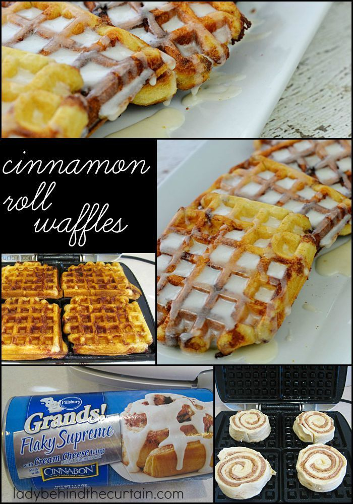 Cinnamon Roll Waffles: When waffles and cinnamon rolls come together and make the most delicious breakfast surprise.