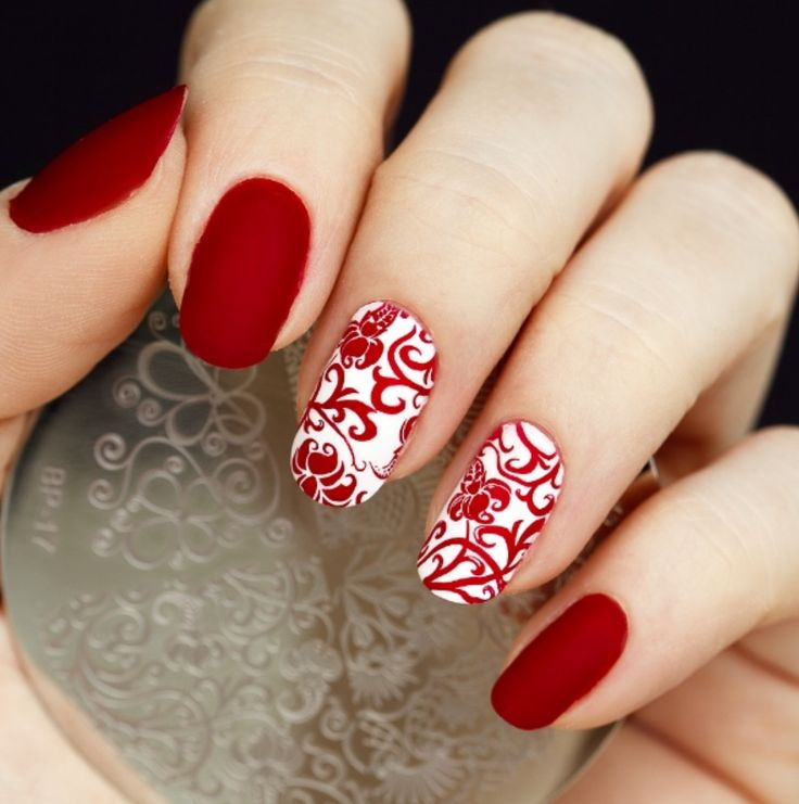 Elegant Flower Nail Art Stamp Template BP17 # 17262. Elegant Nail DesignsRed  ... - Best 25+ Red Nails Ideas On Pinterest Red Nail Polish, Christmas