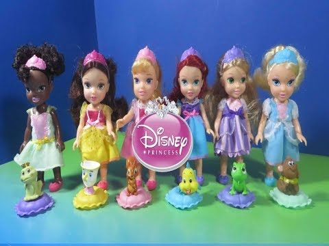 My First Disney Princess collection Petit Cinderella Tiana Ariel Belle Rapunzel Aurora - YouTube