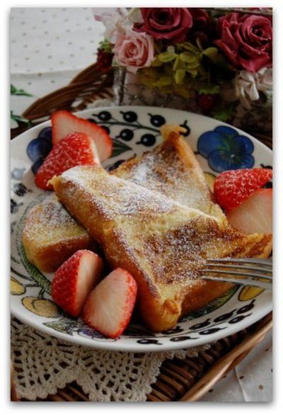 「フレンチトースト」のレシピ by バリ猫さん   料理レシピブログサイト タベラッテ