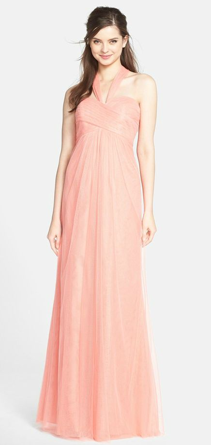 64 Best Images About Coral Bridesmaid Dresses On Pinterest