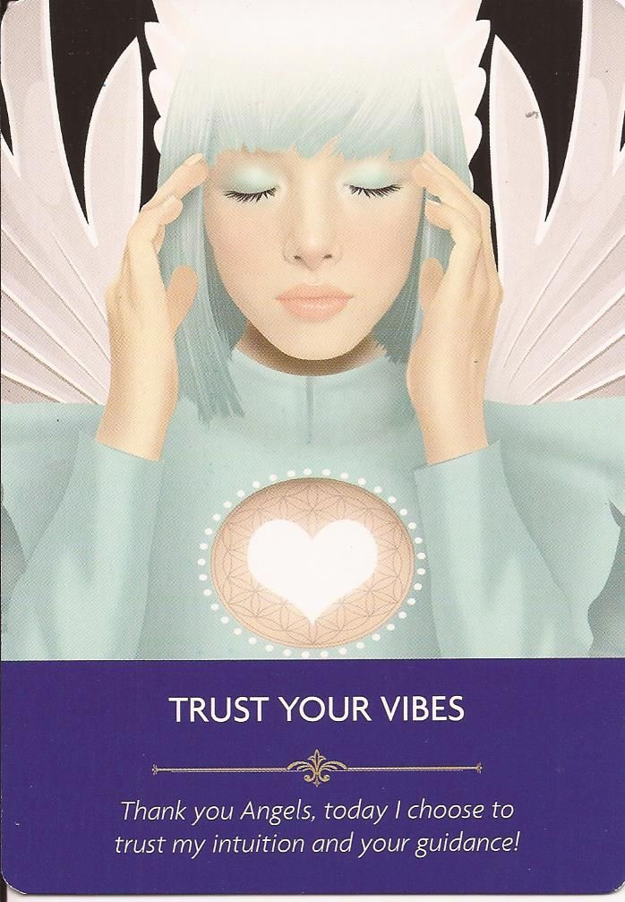 "Hello Everyone! ~ <3 ~ (loving my new cards,….Kyle Gray's Angel Prayers…….big thank you to my other half for getting them!) ~ <3 ~ Card Of The Day ~ <3 ~ Trust Your Vibes~ <3 ~ You are already hearing the messages from you Angels and your loved ones,Your intuition, your Inner loving voice. You are asked to listen to it. Trust in the loving feelings, positive thoughts and the ""knowing"" that you are receiving right now! You are being helped. All ..."