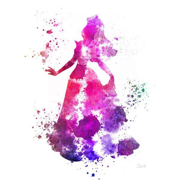 Aurora, Sleeping Beauty ART PRINT illustration, Disney, Princess, Mixed Media, Home Decor, Nursery, Kid