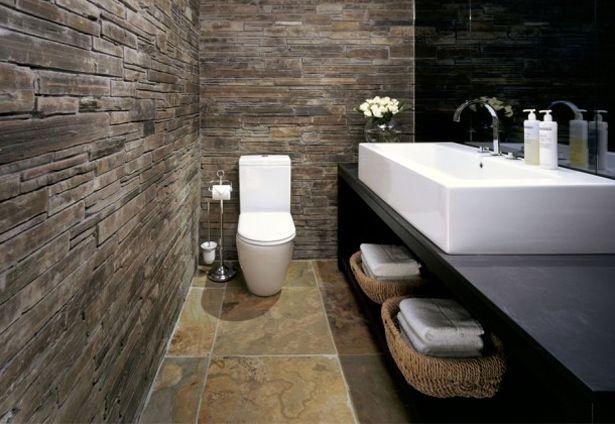 Meer dan 1000 idee n over badkamer behang op pinterest vintage plank badkamer en eettafel - Deco badkamer natuur ...
