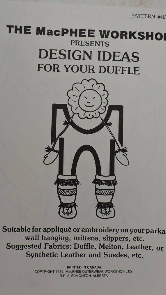 Applique Ideas for Duffle Parka Coat Jacket Wall Hangine
