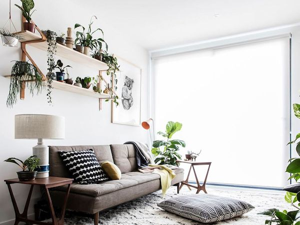 Must-have: a showcase shelf above the couch – Whit…