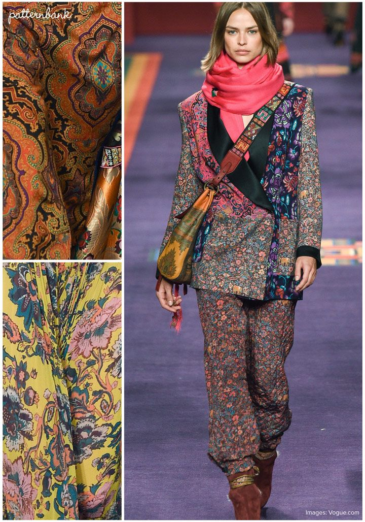 A beautiful stand out collection from Etro at Milan's Fashion Week RTW Fall 17 show. The collection had an eclectic mix of 60s & 70s paisleys, ethnic p