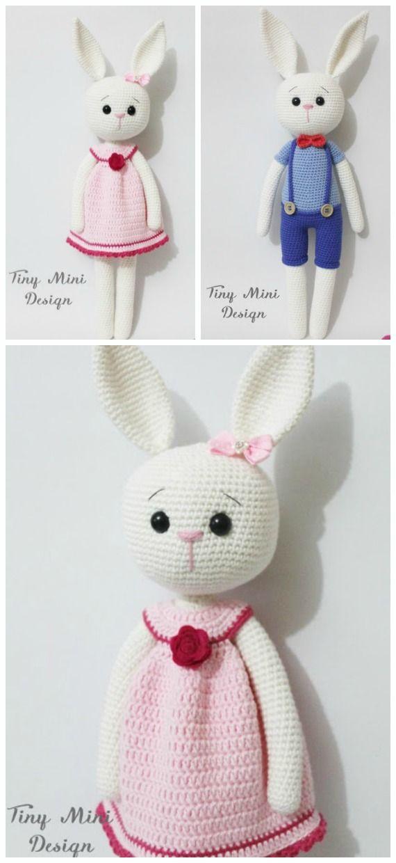 Beautiful Skills - Crochet Knitting Quilting : Amigurumi Bunny ... | 1240x570