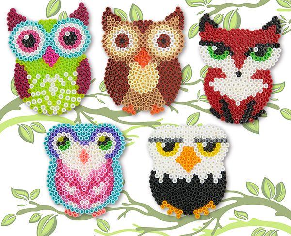 Owls, Birds and Fox Perler Project Pattern