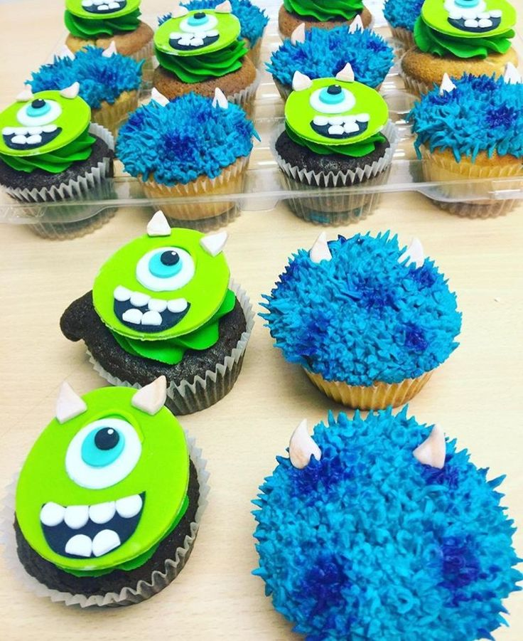 Monster's Inc Cupcakes by Cake Bash Studio & Bakery Sherman Oaks,CA