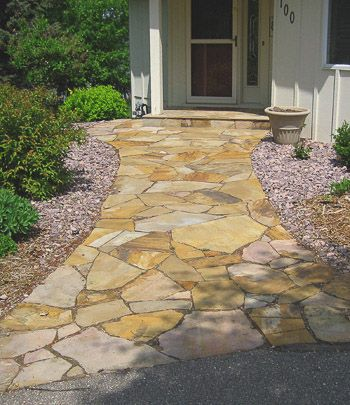 Natural stone walkway garden pinterest stone for Natural stone walkways