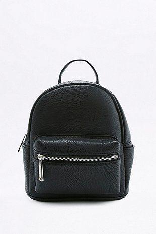 Mini sac à dos noir en similicuir
