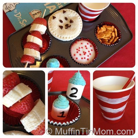 Dr. Seuss Muffin Tin lunch from The Muffin Tin Mom #bento