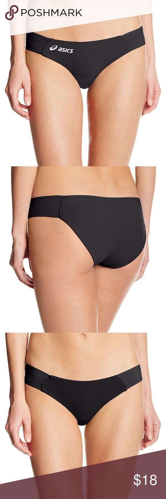 SALE! NEW Black Asics Bikini Bottom New without tags. Asics KELI Reversible Bikini Bottom. Made in USA. Women's extra large. Asics Swim Bikinis