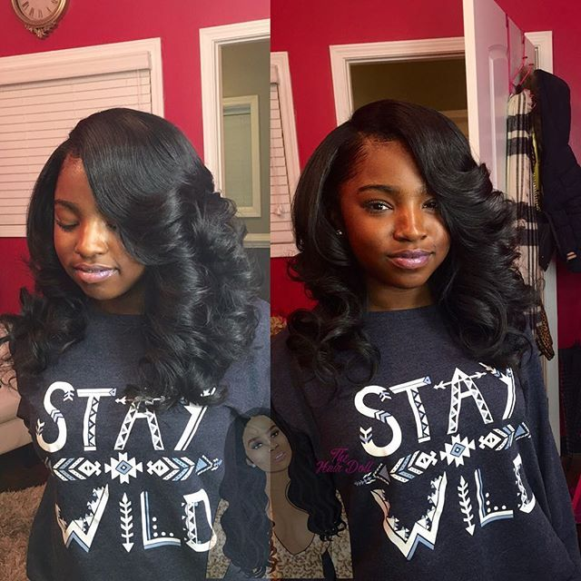 Full sew in on my @kylahhhhh