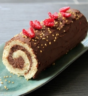 Bûche au chocolat [Homemade Christmas log]