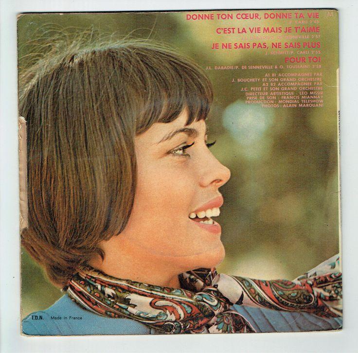 Mireille MATHIEU vinyle 45T EP DONNE TON COEUR ..TA VIE -POUR TOI -BARCLAY 71453