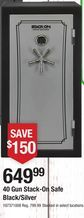 40 Gun Stack-On Safe Black/Silver from Orscheln Farm and Home $649.99 (19% Off) -