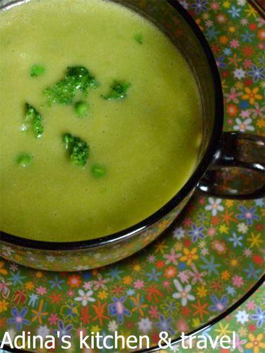 supa crema de mazare si broccoli