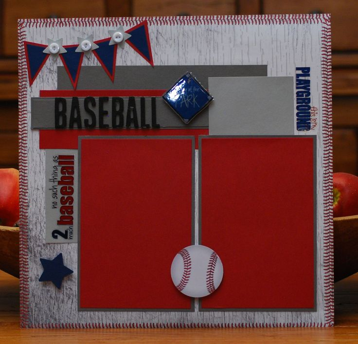 Baseball scrapbook page by A Page