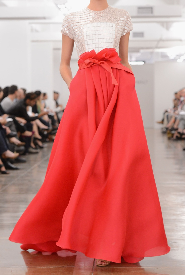 Carmen Marc Valvo ... love the way the skirt is gathered at the waist!