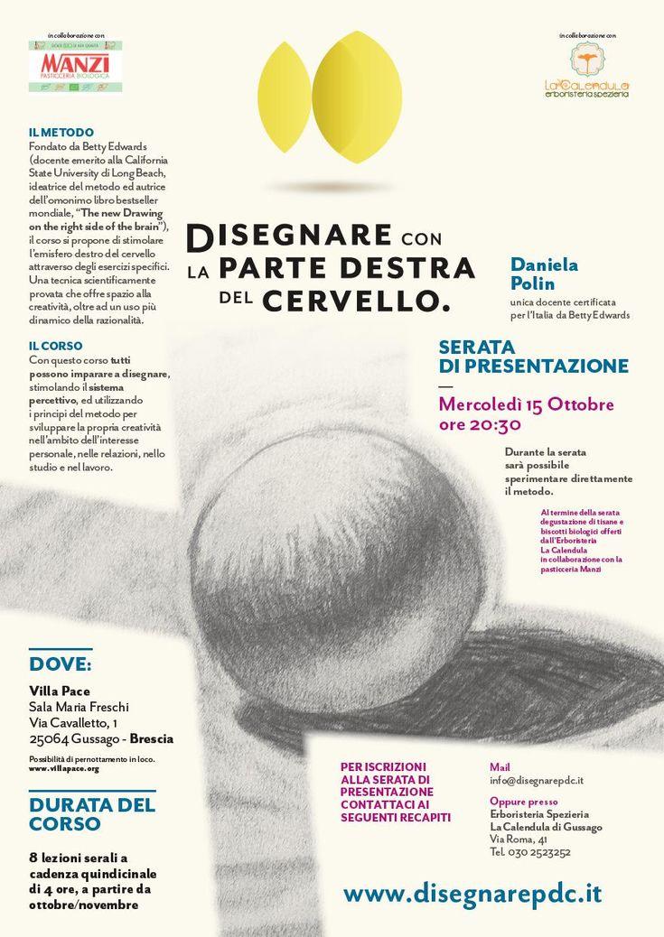 """Mercoledì 15 ottobre corso """"Disegnare con la parte destra del cervello"""" - http://www.gussagonews.it/corso-disegnare-parte-destra-cervello-gussago-2014/"""