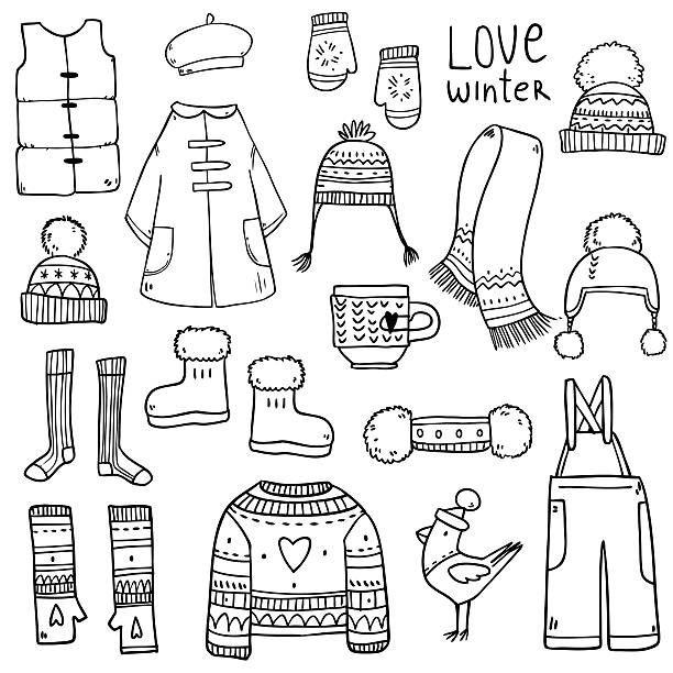 Winter Clothes Clip Art Vector Images Clothes Illustration Dot Journals Clip Art