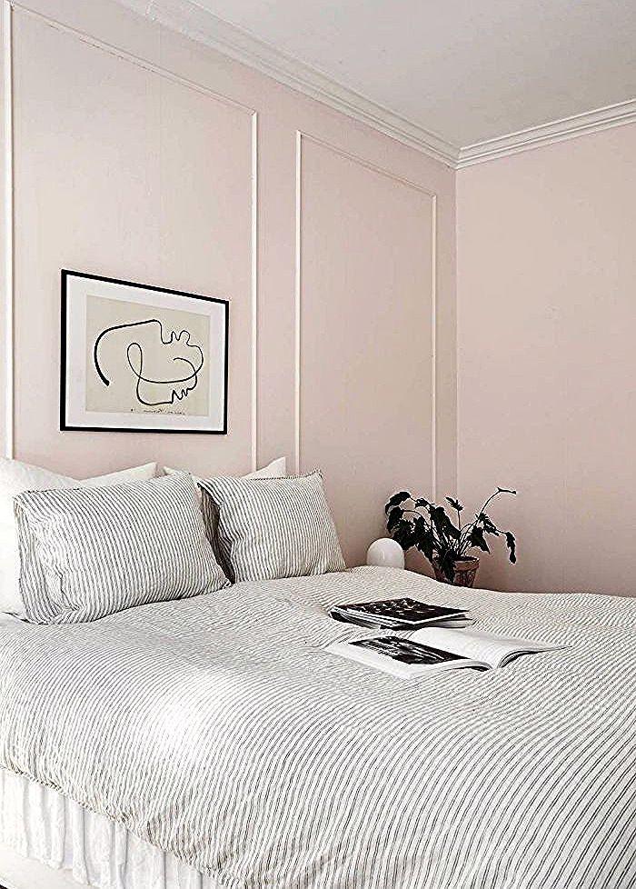 Chambre Gris Et Rose Design Moderne Style Minimaliste Peinture