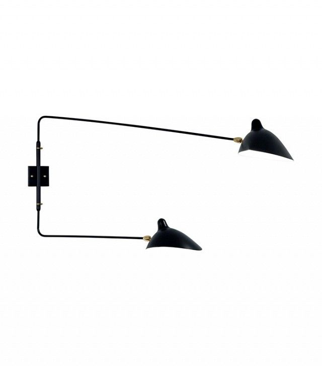 Serge Mouille 2-Rotating Straight Arm Sconce