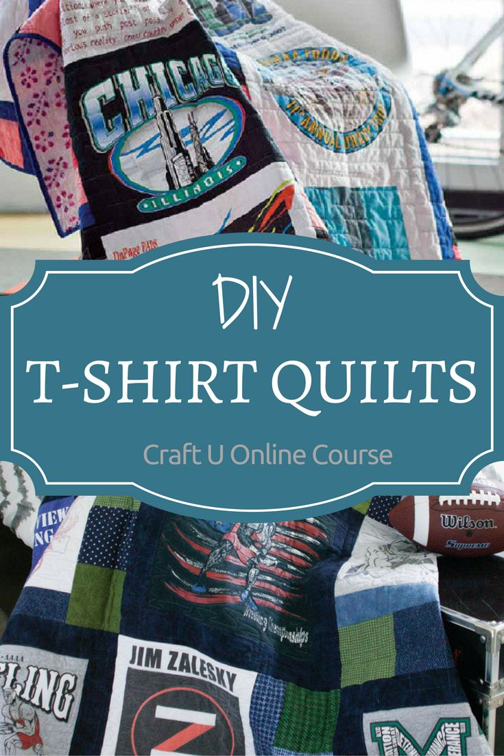 Lots of us have T-shirts that mean something to us, but we store them away. Show them off in a T-shirt quilt! Wondering how to make a T-shirt quilt? Easy!