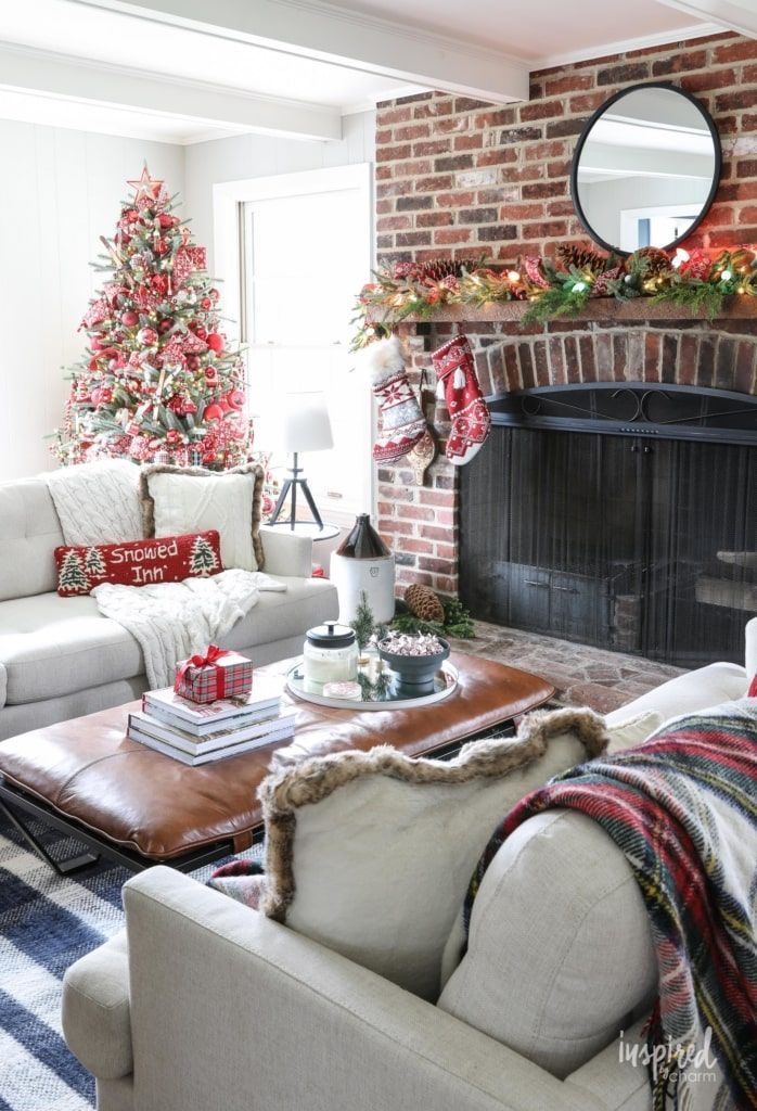 Inspired By Charm With Michael Wurm Jr Inspiredbycharm On Pinterest Christmas Decorations Living Room Holiday Living Room Decorating Small Spaces